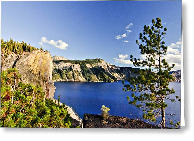 Craters Greeting Cards - Crater Lake II Greeting Card by Albert Seger