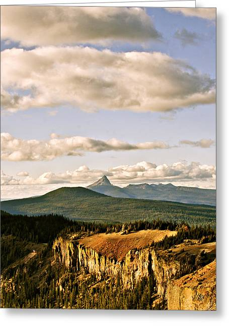 Crater Lake Sunset Greeting Cards - Crater Lake III Greeting Card by Albert Seger