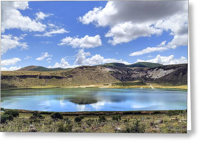 Asien Greeting Cards - Crater Lake Narligol - Turkey Greeting Card by Joana Kruse