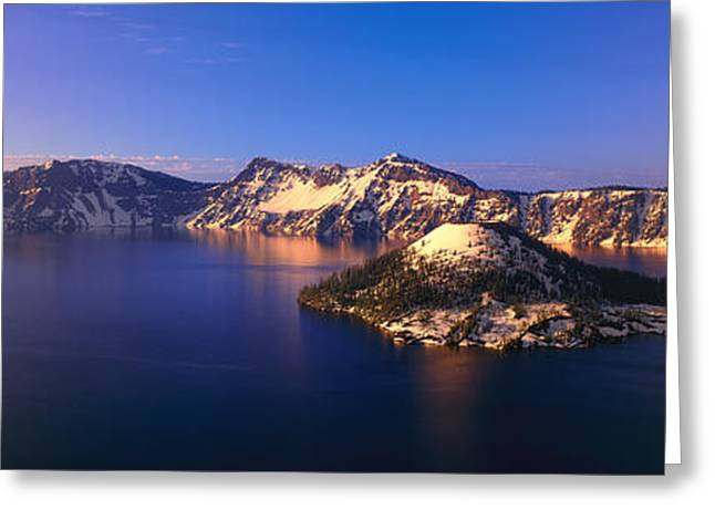 Winterscape Greeting Cards - Crater Lake National Park, Oregon Greeting Card by Panoramic Images