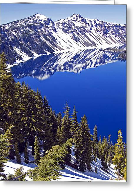 Craters Greeting Cards - Crater Lake Oregon II Greeting Card by Kristen Vota