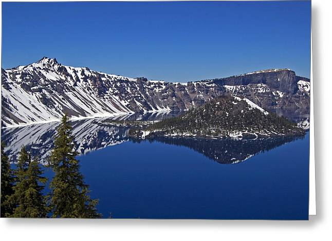 Craters Greeting Cards - Crater Lake Oregon Greeting Card by Kristen Vota
