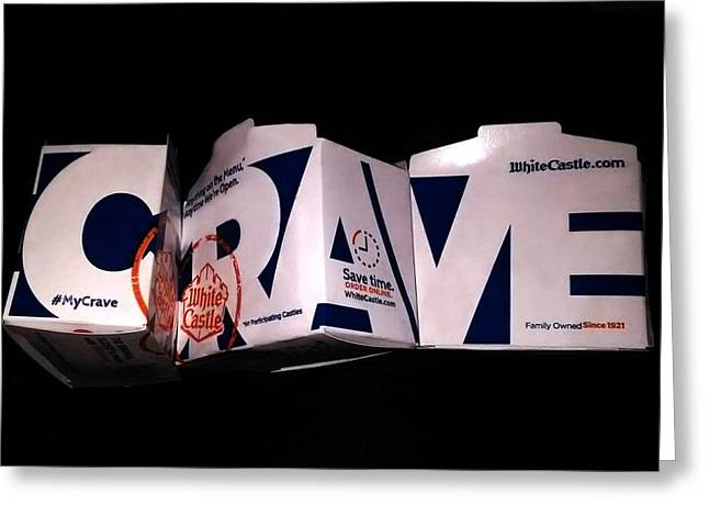 Crave Greeting Card by Bruce Lennon