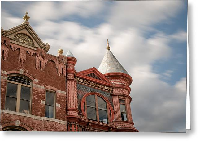 Crawford County Greeting Cards - Crawford County Bank Greeting Card by James Barber