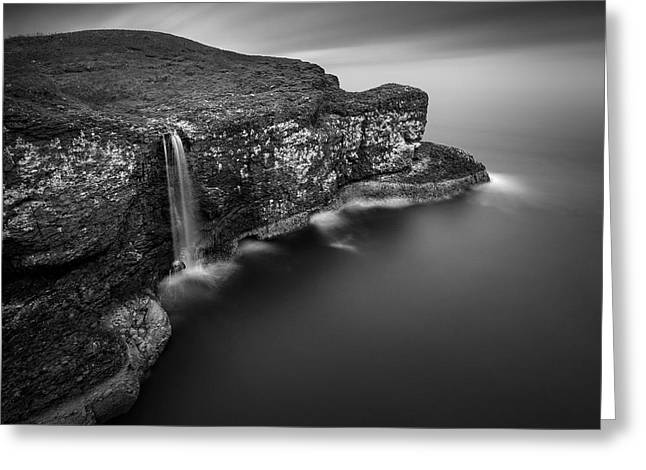 Ocean Landscape Greeting Cards - Crawton Cliffs Greeting Card by Dave Bowman