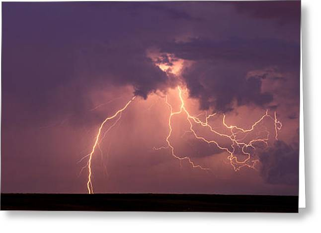 Photography Lightning Photographs Greeting Cards - Crazy Bolts Greeting Card by Darren  White