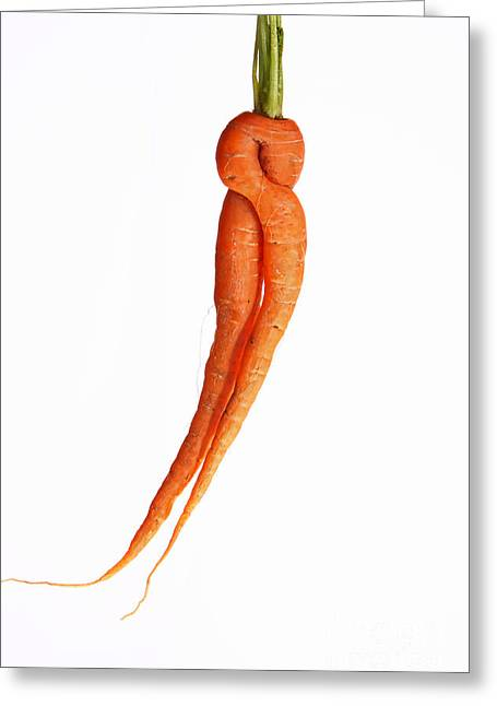 Carrot Greeting Cards - Crazy Carrot Fine Art Food Photography Greeting Card by James BO  Insogna