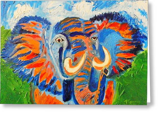 Pallet Knife Greeting Cards - Crazy Chong Greeting Card by Marvin Pike
