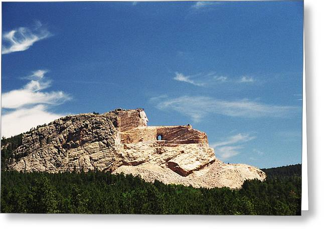 Crazy Horse Photographs Greeting Cards - Crazy Horse Memorial Greeting Card by Marlana Holsten