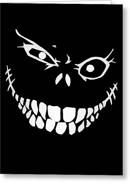 Digital Drawings Greeting Cards - Crazy Monster Grin Greeting Card by Nicklas Gustafsson