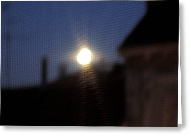 Amusements Greeting Cards - Crazy moon Greeting Card by Guido Strambio
