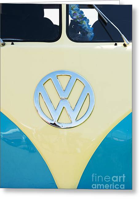 Vdub Greeting Cards - Cream and Blue  Greeting Card by Tim Gainey