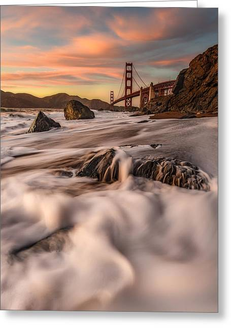 Marin County Greeting Cards - Creamscape Greeting Card by Nicholas Steinberg