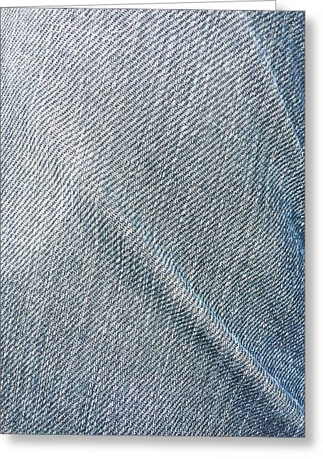 Creased Denim Greeting Card by Tom Gowanlock