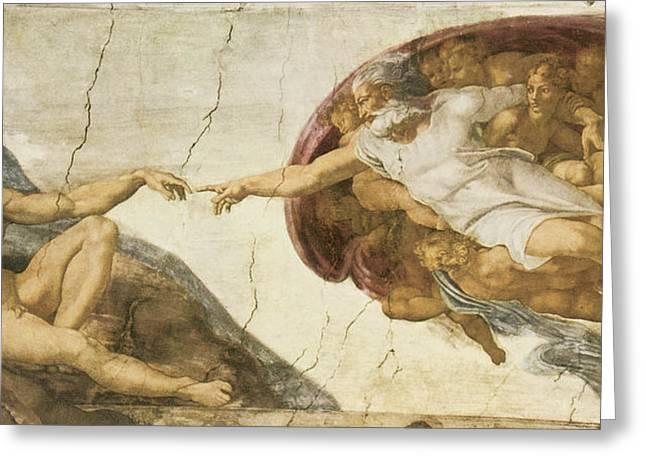 Creation of Adam Greeting Card by Michelangelo Buonarroti