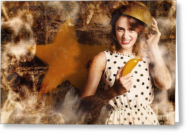 Creative Cooking Pin-up Greeting Card by Jorgo Photography - Wall Art Gallery