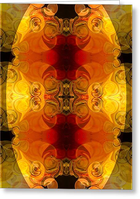 Undecided Greeting Cards - Creative Fire and Flames Abstract Organic Art by Omaste Witkowsk Greeting Card by Omaste Witkowski