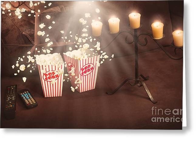 Home Theatre Greeting Cards - Creative still life home entertainment photo Greeting Card by Ryan Jorgensen
