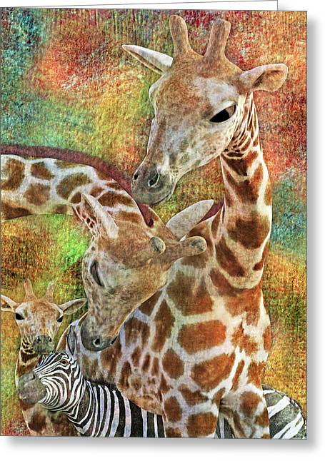 Creatures Great And Small Greeting Card by Betsy C Knapp