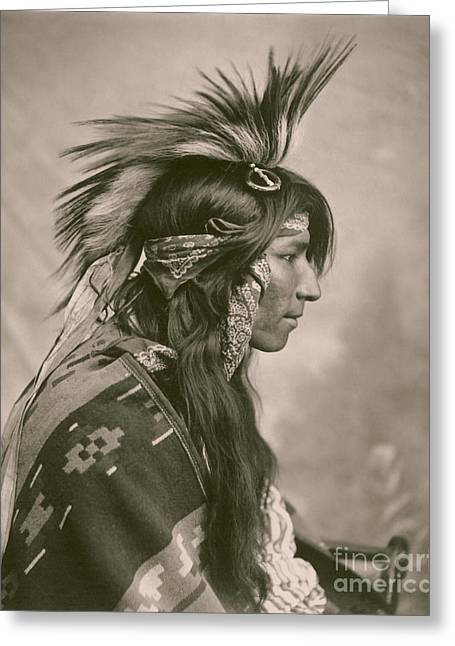 Cree Greeting Cards - Cree Indian Greeting Card by Celestial Images
