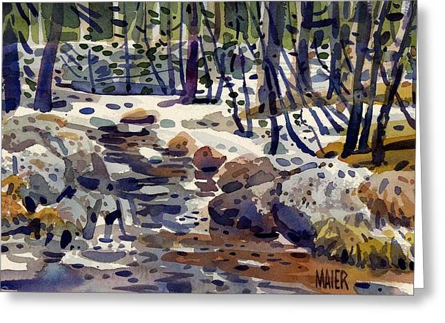High Country Greeting Cards - Creek at Tuolume Meadows Greeting Card by Donald Maier