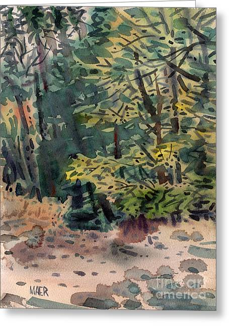 Creek Paintings Greeting Cards - Creek Path Greeting Card by Donald Maier