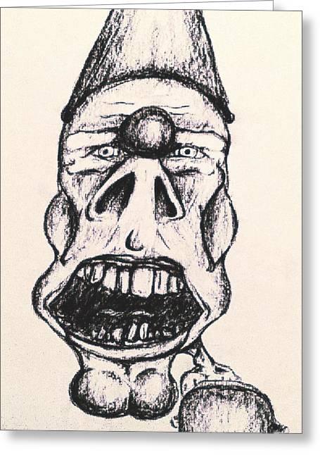 Creep Greeting Card by Jonathan Burdett