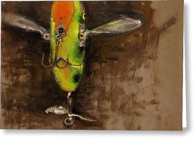 Creeper Muskie Lure Greeting Card by Larry Seiler