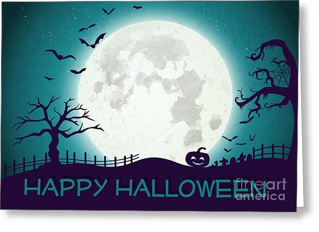 Special Occasion Greeting Cards - Creepy Halloween Greeting Card by JH Designs