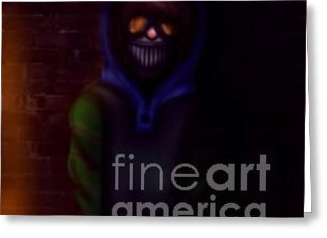 Creepy Digital Art Greeting Cards - Creepypasta Ticci Toby Greeting Card by Reetta Ketola