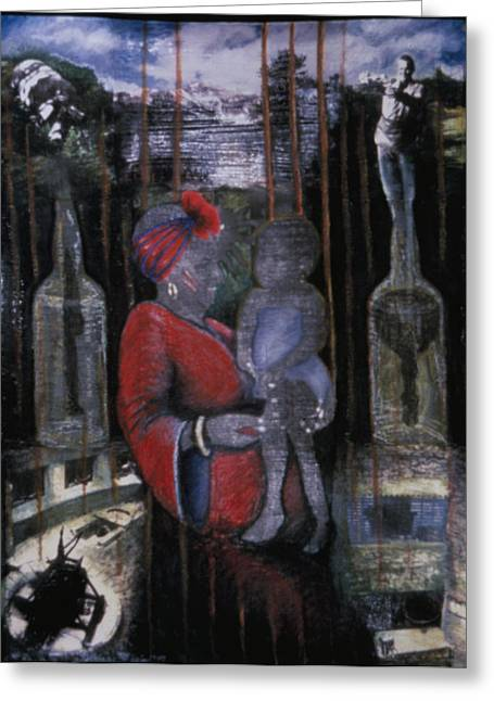 Best Sellers -  - Vodou Greeting Cards - Creole Shekhinah Greeting Card by Barbara Nesin