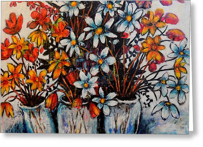 Jeremy Greeting Cards - Crescendo of flowers Greeting Card by Jeremy Holton