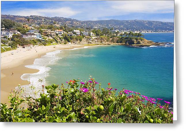 Pristine Beaches Greeting Cards - Crescent Bay Laguna Beach California Greeting Card by Utah Images
