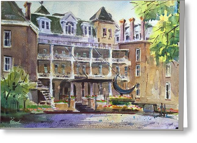 Crescent Hotel Greeting Card by Spencer Meagher