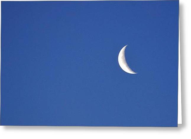 Astro Images Greeting Cards - Crescent moon 2  Greeting Card by Todd and candice Dailey