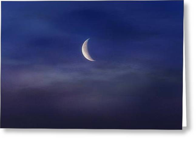 Astro Images Greeting Cards - Crescent Moon 3  Greeting Card by Todd and candice Dailey
