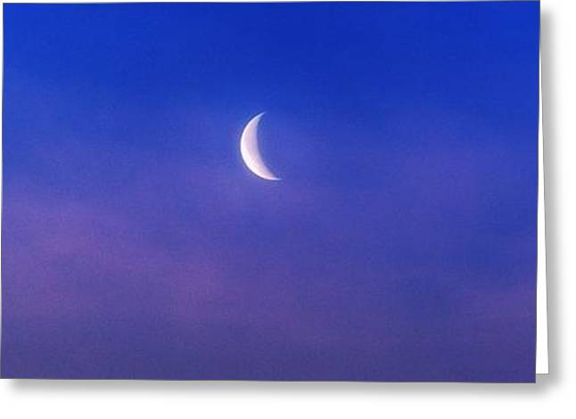 Astro Images Greeting Cards - Crescent Moon 4 Greeting Card by Todd and candice Dailey