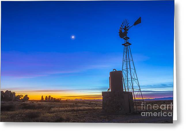 Christmas Eve Greeting Cards - Crescent Moon Beside Mars Greeting Card by Alan Dyer