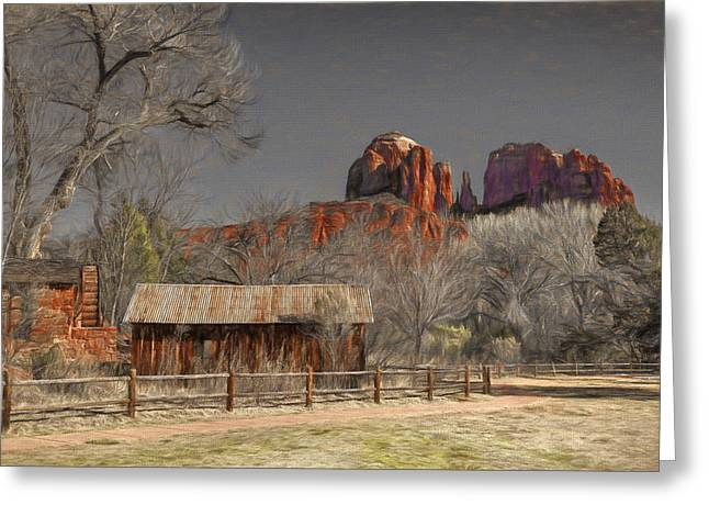 Crescent Moon Ranch Greeting Card by Donna Kennedy