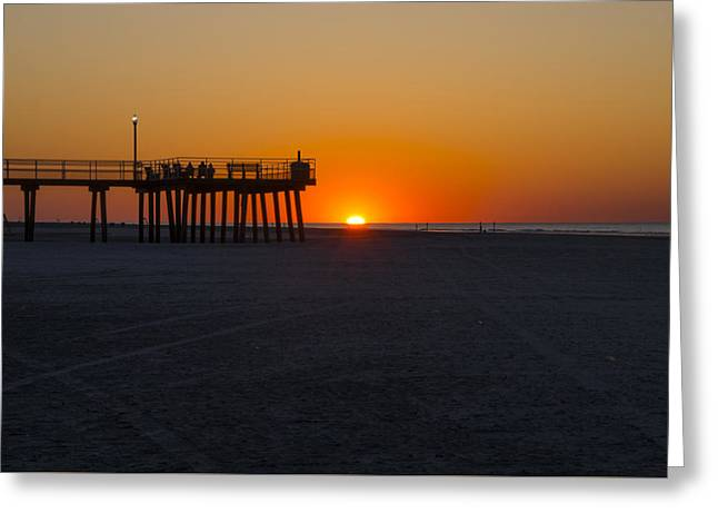 Bill Cannon Drawings Greeting Cards - Crest Pier - Wildwood Crest New Jersey Greeting Card by Bill Cannon