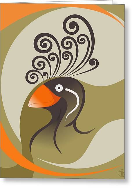 crestedAUKLET Greeting Card by Mariabelones ART