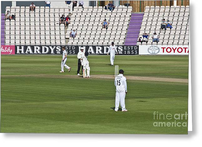 Empty Chairs Greeting Cards - Cricket Match Hampshire Greeting Card by Terri  Waters