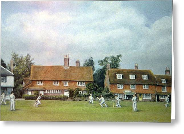 Actions Pastels Greeting Cards - Cricket On The Green Greeting Card by Rosemary Colyer