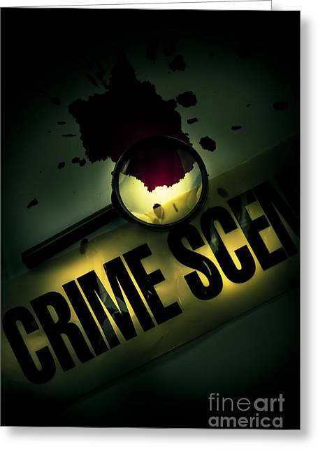 Forensic Pathology Greeting Cards - Crime Scene Investigation Greeting Card by Ryan Jorgensen