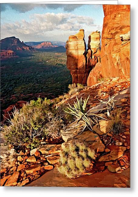 Crimson Cliffs 08-064 Greeting Card by Scott McAllister