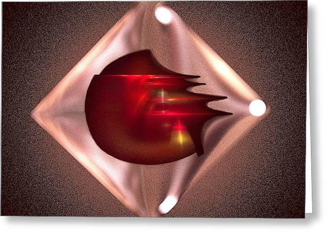 Mix Medium Digital Greeting Cards - Crimson Heart Greeting Card by Viktor Savchenko