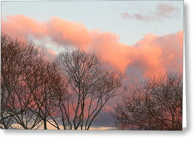 Colorful Cloud Formations Greeting Cards - Crimson Sky Greeting Card by Nicholas Blackwell
