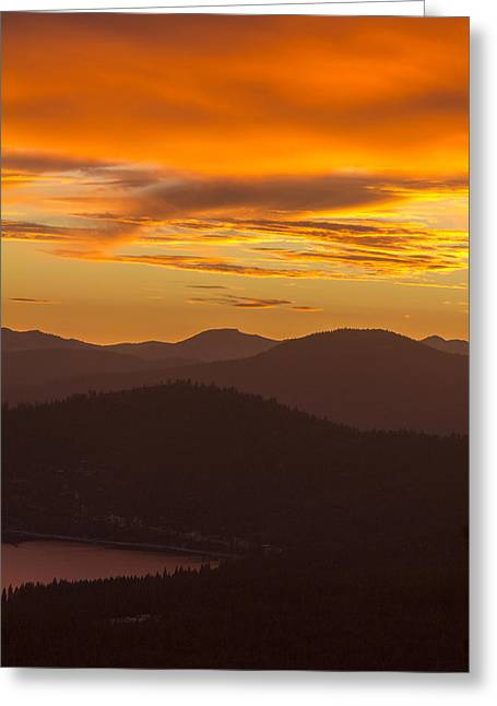 Sunset Prints Greeting Cards - Bittersweet Sunset Greeting Card by Cindy Lee Galyean