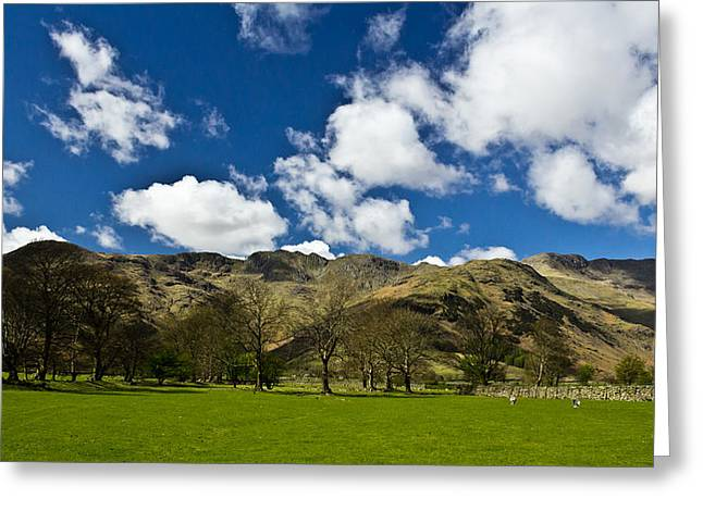 Crinkled Greeting Cards - Crinkle Crags Greeting Card by Chris Whittle