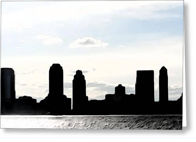 Keshava Greeting Cards - Crispy Jersey City Greeting Card by Keshava Shukla